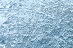冻结的冰纹理宏指令视图 冷气候概念 软绵绵地集中 免版税库存照片
