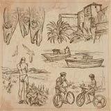 Португалия Изображения жизни Пакет вектора Стоковые Изображения RF