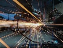 研的人钢厂 免版税图库摄影