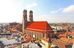 空中中心城市慕尼黑视图 免版税库存照片