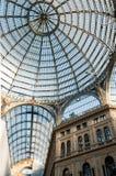 翁贝托画廊在那不勒斯, 免版税库存图片