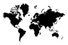 映射世界 库存图片