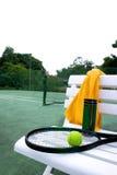 球拍网球 免版税图库摄影