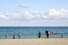 Человек водолаза пляжа Голливуда Стоковое Фото