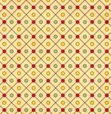 老纸的纹理与几何装饰样式的 免版税库存图片