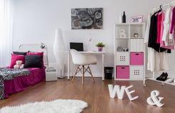 低劣的女孩室设计 库存图片