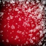 сердца белые Стоковое Фото