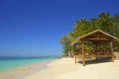 Παραλία επτά μιλι'ου στο Γκραν Κέιμαν, καραϊβικό Στοκ Φωτογραφίες