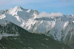 山脉在蒂罗尔,阿尔卑斯,奥地利 免版税库存照片