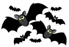 силуэты летучих мышей Стоковые Изображения