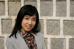 亚洲女性纵向 免版税库存照片
