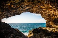 洞在巴巴多斯,加勒比岛 免版税图库摄影