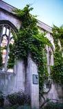 教会废墟 免版税库存照片