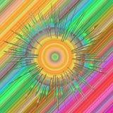 квадрат неона предпосылки Стоковая Фотография