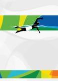 游泳体育背景 免版税图库摄影