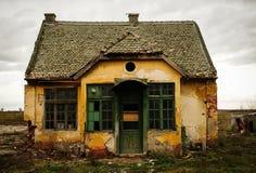 鬼被困扰的房子 免版税图库摄影