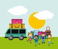 Дизайн значка детей Стоковое Изображение RF