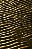 标记湿波纹的沙子 免版税图库摄影