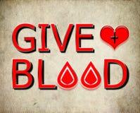 Δώστε το αίμα, δώστε την έννοια Στοκ Εικόνες