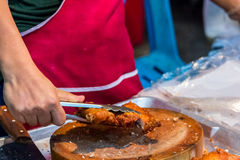 油煎的可口热的鸡 图库摄影