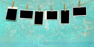 空的框架照片葡萄酒 免版税库存照片