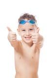 Χαμογελώντας νέος κολυμβητής Στοκ Φωτογραφίες