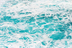 海泡沫和水背景 免版税图库摄影
