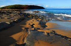 海滩夏威夷人日出 免版税库存图片