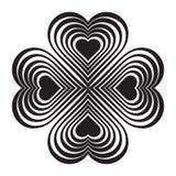 Μαύρος κελτικός κόμβος καρδιών - τυποποιημένο σύμβολο Φιαγμένος από καρδιές Στοκ φωτογραφίες με δικαίωμα ελεύθερης χρήσης