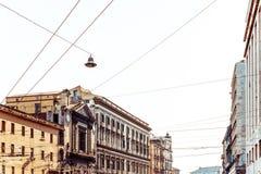 Άποψη οδών της παλαιάς κωμόπολης στην πόλη της Νάπολης Στοκ εικόνες με δικαίωμα ελεύθερης χρήσης