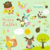 庆祝复活节的动物 库存图片