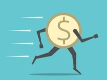 Ход монетки доллара Стоковая Фотография