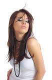 性感长期女孩的头发 库存图片