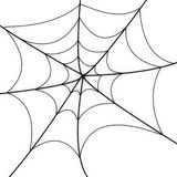 发光的蜘蛛网 免版税库存图片
