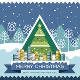 圣诞节快活的海报 免版税库存照片