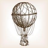 Εκλεκτής ποιότητας αέρα μπαλονιών διάνυσμα σκίτσων ροδών συρμένο χέρι Στοκ φωτογραφία με δικαίωμα ελεύθερης χρήσης