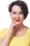 Χαμογελώντας γοητευτική γυναίκα Στοκ Φωτογραφίες
