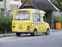 冰淇凌汽车在毛里求斯 库存照片