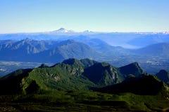 智利地区湖 免版税库存图片