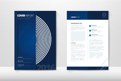 Σύγχρονη ετήσια έκθεση κάλυψης ότι το φυλλάδιο - επιχειρησιακό φυλλάδιο - καταχωρεί την κάλυψη, το σχέδιο ιπτάμενων, το μέγεθος A Στοκ Φωτογραφία