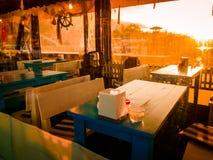 Άνετο τουρκικό εστιατόριο στο ηλιοβασίλεμα Στοκ εικόνες με δικαίωμα ελεύθερης χρήσης