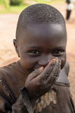 非洲孩子在卢旺达 库存照片