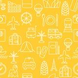 Λεπτό άνευ ραφής σχέδιο εικονιδίων γραμμών Στοκ Εικόνες