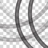 轮胎跟踪传染媒介 免版税库存照片