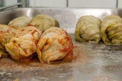 被充塞的圆白菜肉 免版税库存图片