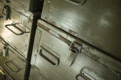 火炮弹药的木箱 库存图片