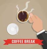 一杯咖啡的断裂 免版税图库摄影