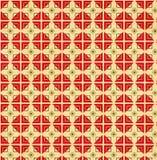 老纸的纹理与几何装饰样式的 库存照片