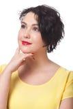 Θετική σκεπτική γυναίκα Στοκ Εικόνες