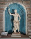 波塞冬海的雕象神在希腊神话方面 免版税库存照片